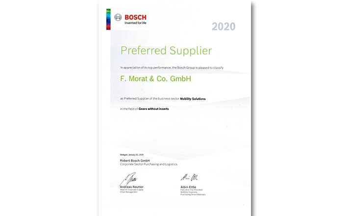 Bosch Preferred-Supplier F-Morat 2020