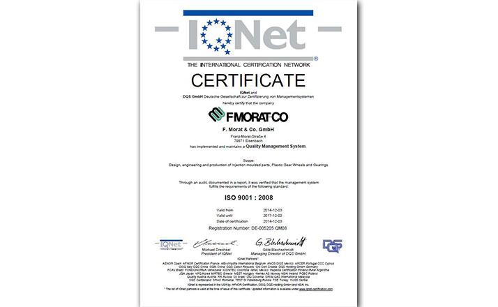 Certificate IQ Net Eisenbach