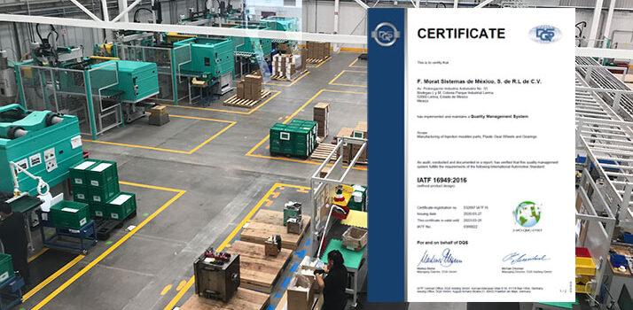 F.Morat MX IATF-Zertifzierung