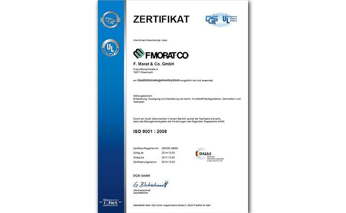 Zertifikat DQS ISO 9001 2008 Eisenbach